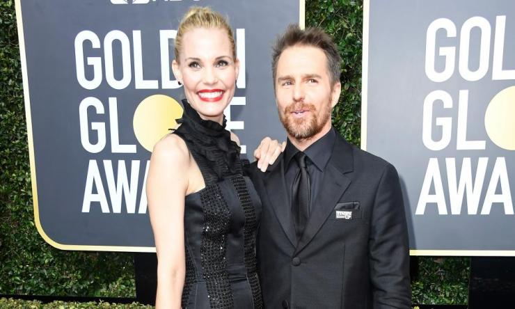 Sam Rockwell with Leslie Bibb.