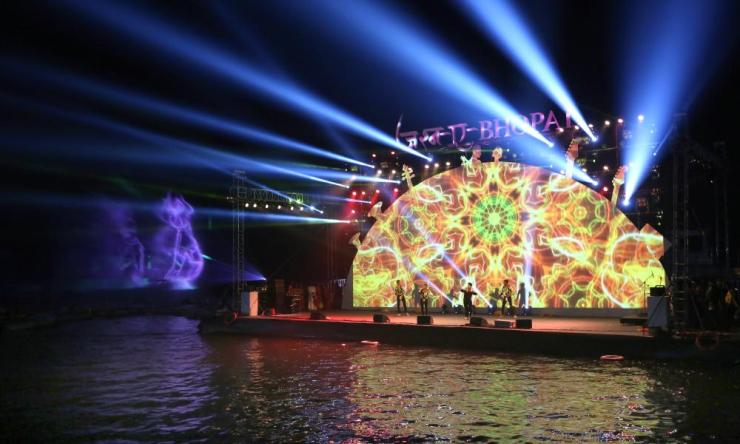 Artists perform during the new year Jasn a Bhopal 2020 in Bhopal.