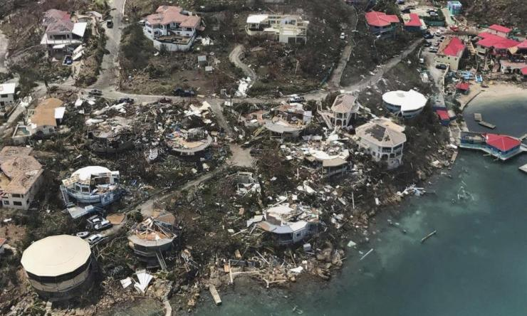 The destruction left in the wake of Hurricane Irma in the U.S. Virgin Islands.