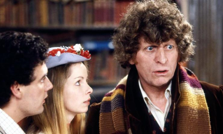Daniel Hill, Lalla Ward and Tom Baker in Doctor Who