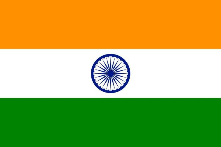 National flag of the Republic of India.