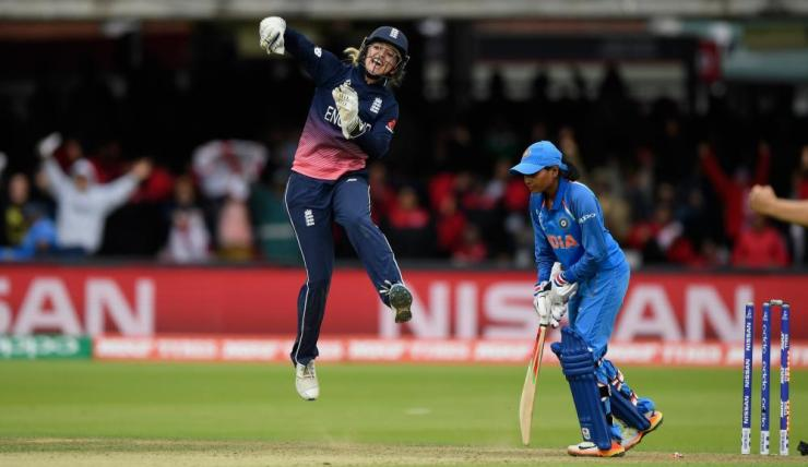 Taylor celebrates the final India wicket.