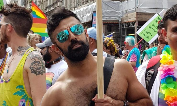 Streets ahead: 'We organised for 100 of us to be in the Pride parade this year.'