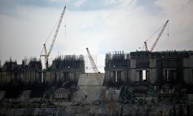 Construction at the Belo Monte hydroelectric dam near Altamira.