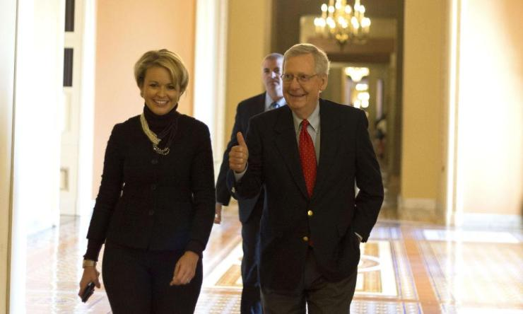 The Senate majority leader, Mitch McConnell: wealthcare victory.