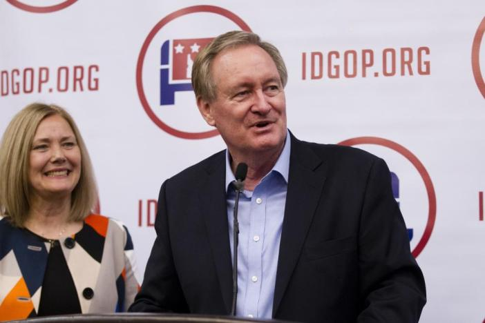 Sen. Michael Crapo gives his victory speech at the Idaho GOP Election Night Party.
