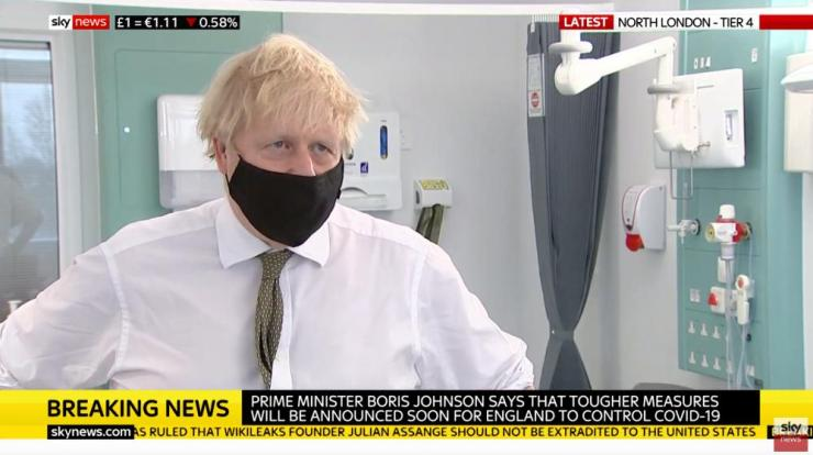 Boris Johnson interviewed on Sky News