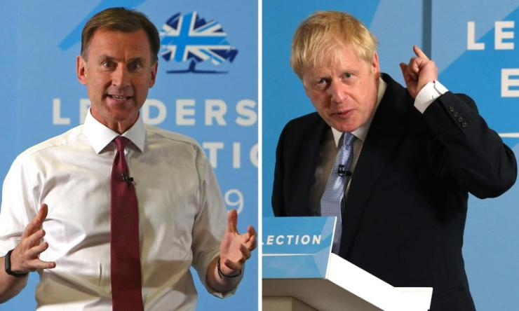Jeremy Hunt and Boris Johnson .