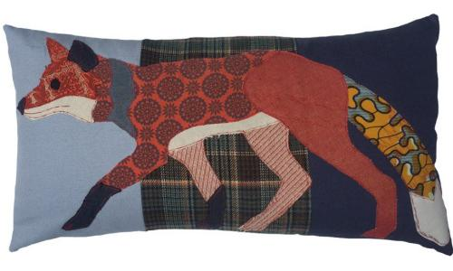 Running fox cushion by Carola Van Dyke