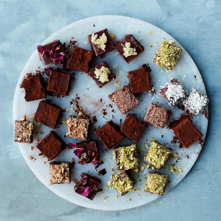 The Easter treat: Anna Jones's easy chocolate truffles.