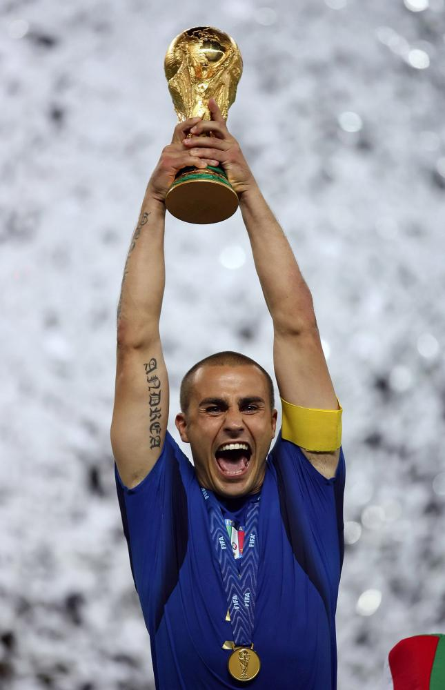 The best player of the 2006 World Cup was a defender, and he lifted the World Cup trophy at the end of it all.
