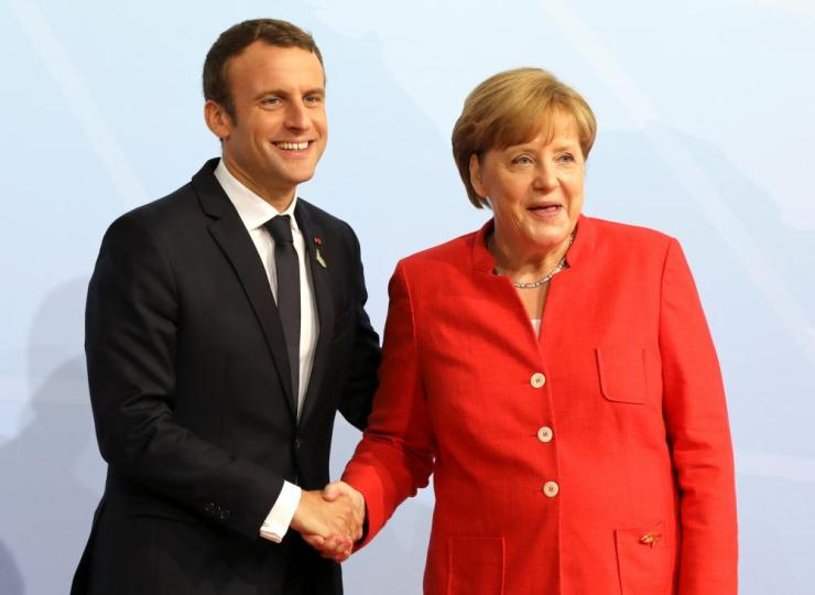 German hancellor Angela Merkel and French president Emmanuel Macron.