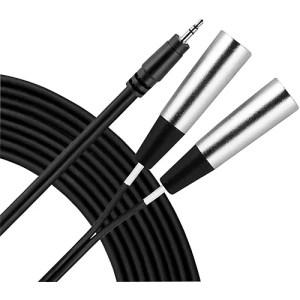 Livewire 35mm TRS Dual XLR(M) Patch Cable 2 Meters