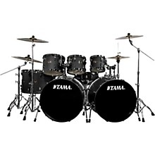 TAMA Acoustic Drum Sets   Guitar Center TAMA Imperialstar 8 Piece Drum Set in Black Nickel Hardware with Meinl HCS  Cymbals