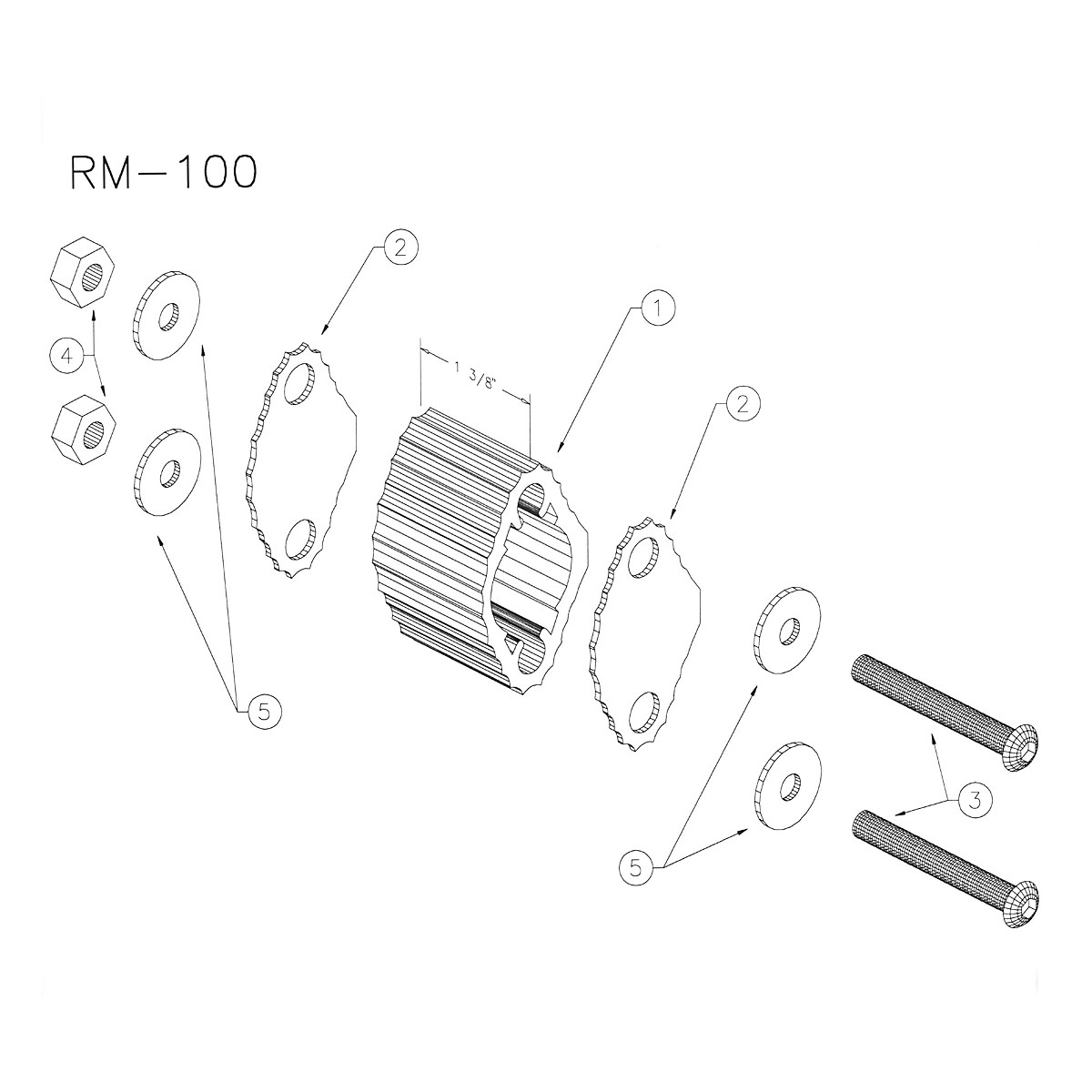 Yamaha Rm100 Small Marching Quad Spacer