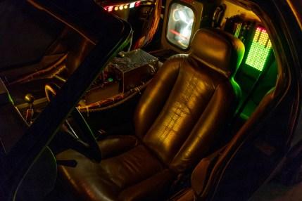 Back to Future DeLorean interior seat night