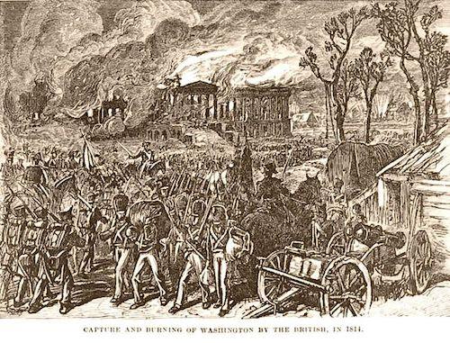 به آتش کشیدن واشینگتن دیسی توسط بریتانیاییها