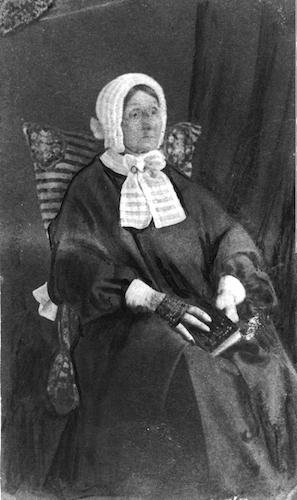 لارا سکرد، در سن ۹۰ سالگی، سال ۱۸۶۵