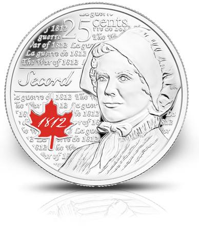 تصویر لارا سکرد روی سکهٔ یادبود ۲۵ سنتی