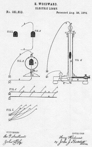 حق اختراع ثبتشده توسط هنری وودوارد و متیو ایوانز