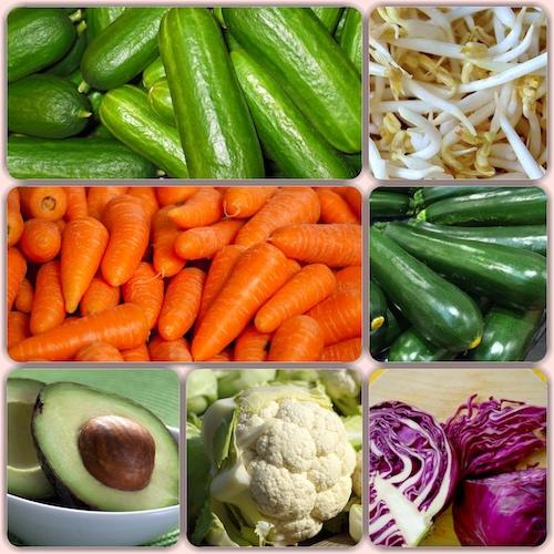 رول برنجی سبزیجات