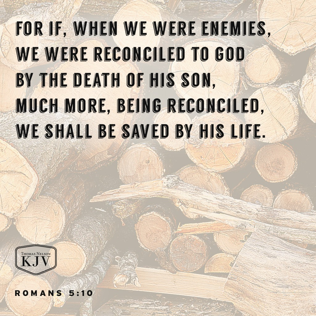 10 For if, when we were enemies, we were reconciled to God by the death of his Son, much more, being reconciled, we shall be saved by his life. Romans 5:10
