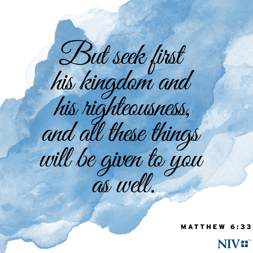 Niv Verse Of The Day Matthew 6 33