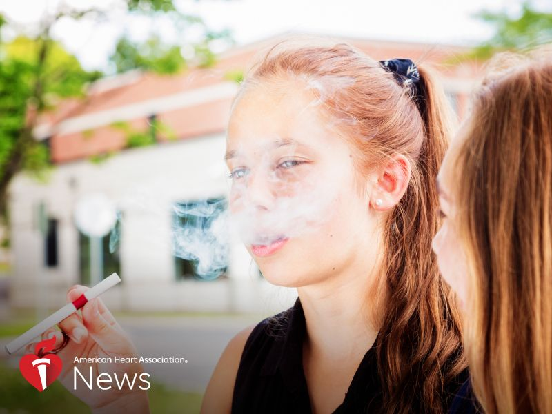 News Picture: AHA News: Amid 'Epidemic' of School Vaping, a Search for Solutions