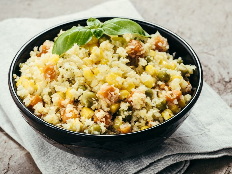 News Picture: Delicious, Do-It-Yourself Cauliflower Rice