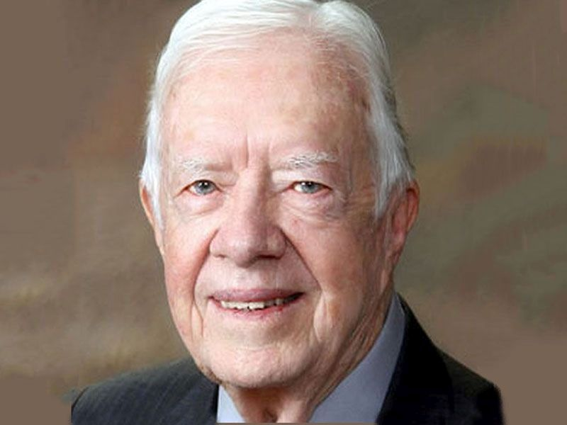 News Picture: Former President Jimmy Carter Leaves Hospital After Surgery for Broken Hip