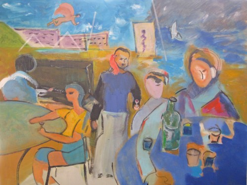2011 Toast of Taos Arts & Wine Poster Painting