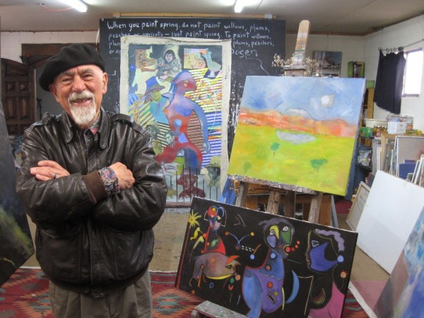 Alvaro In His Studio