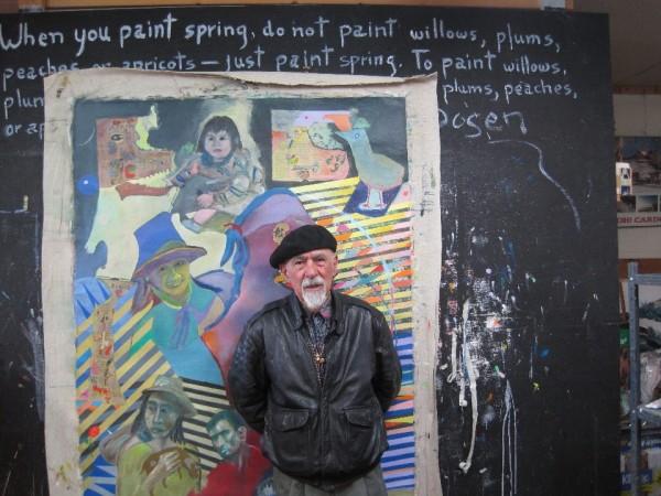 Alvaro In His Studio