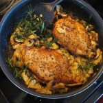 A Great Holiday Supper: Taragon Chicken With Mushrooms