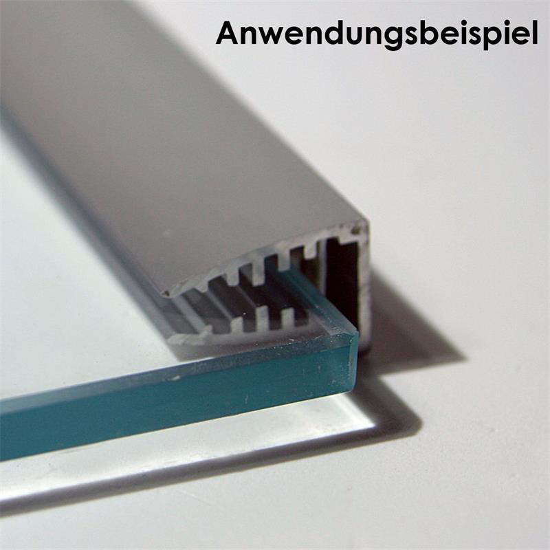 led aluminum glass edge lights for led strip 1m