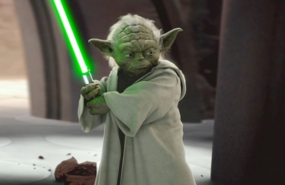 Joseph Gordon Levitt TRIED To Dress Up As Yoda For The  Star Wars         more like Yoda s disappointing  homeless brother who snagged a cheap  bathrobe from a hotel maid s cart  And where the fuck is the walking stick   bro