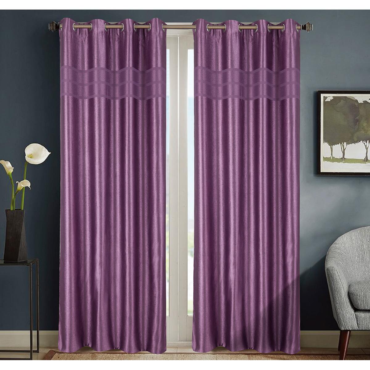 rideau occultant violet