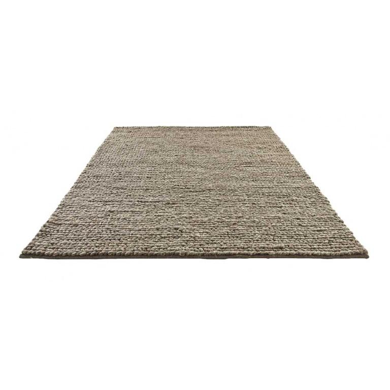 tapis tresse en laine naturel