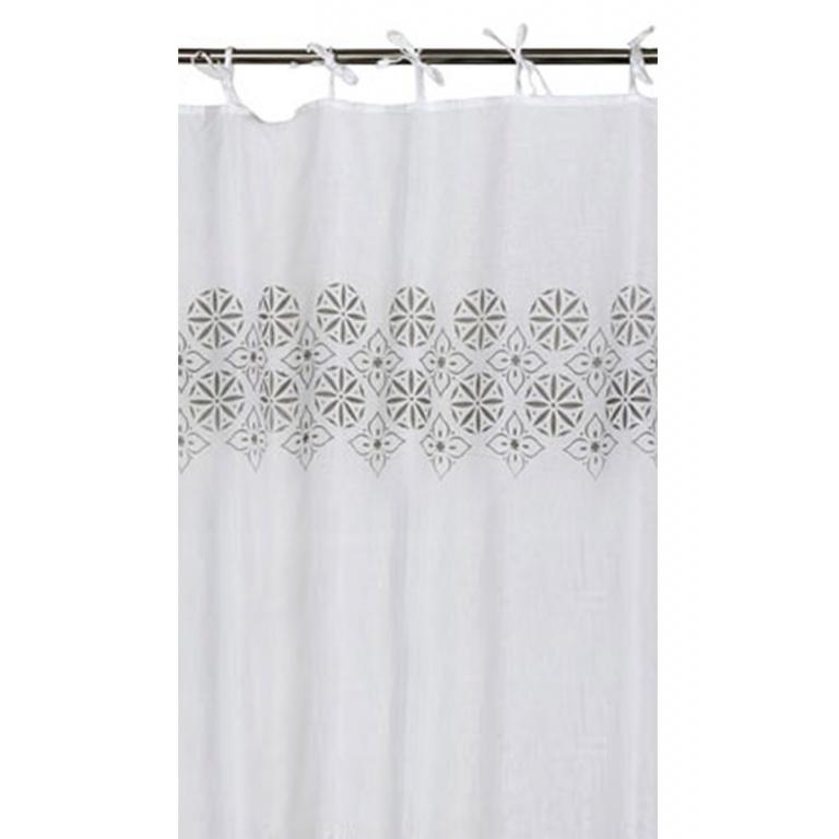 100 coton blanc gris homemaison