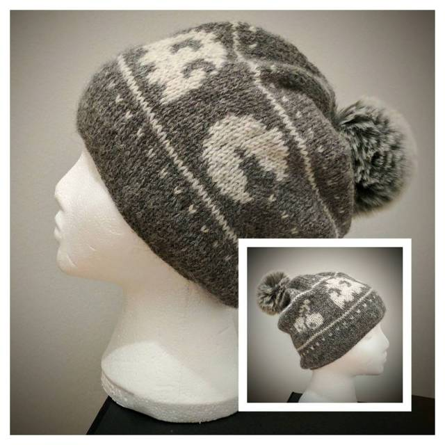 My fairisle knitted Pacman hat is done! A bit bighellip
