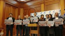 "Parlamentari USR cu mesajul ""Fara penali in functii publice"""