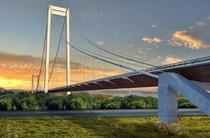 Podul suspendat peste Dunare de la Braila
