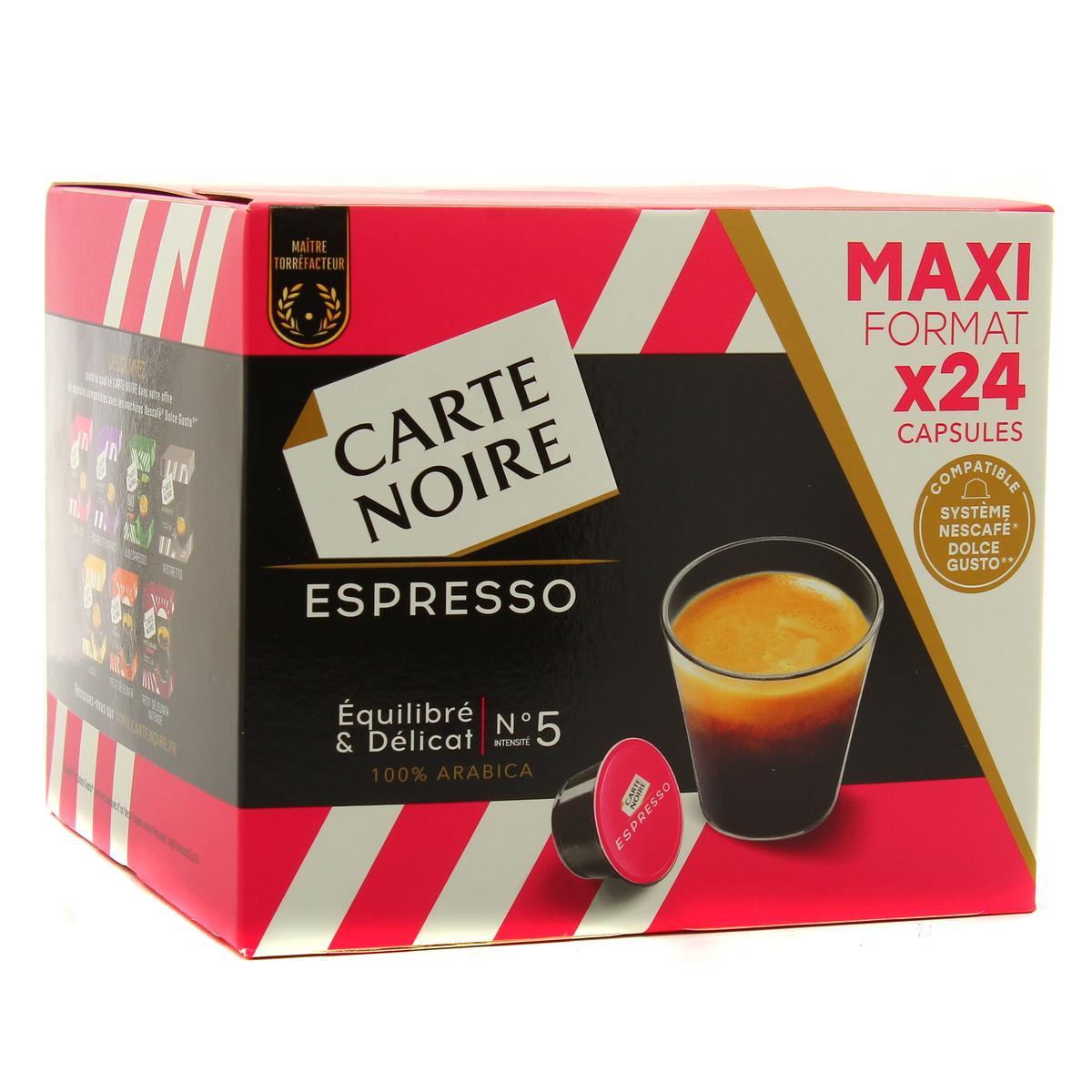 acheter carte noire espresso equilibre et delicat n 5 24 capsules