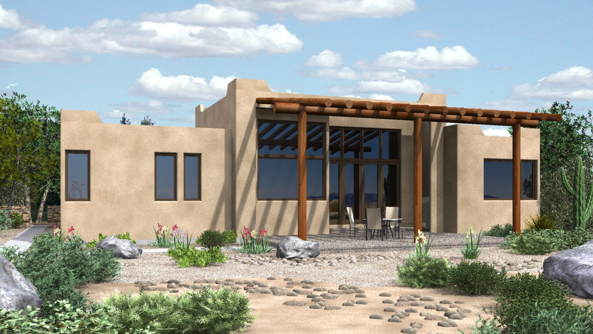 New southwestern style house plans house floor ideas - Adobe house plans nature inspired efficiency ...