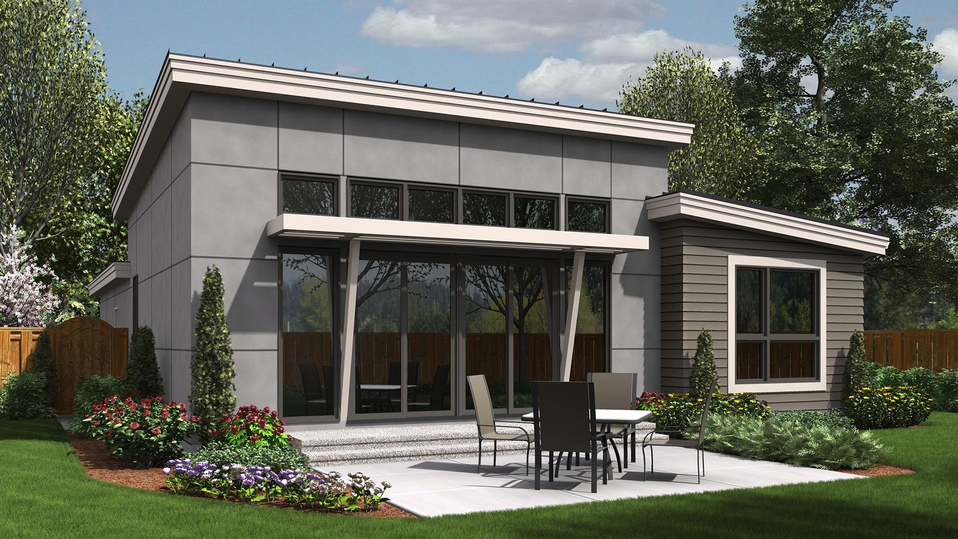 Contemporary House Plan 1164ES The Park Place: 1613 Sqft