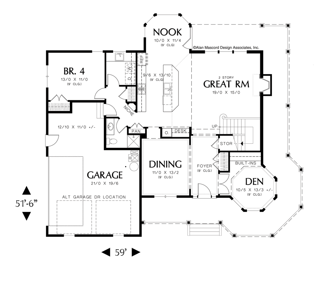 Country House Plan The Kensington Sqft 4 Beds 3 Baths