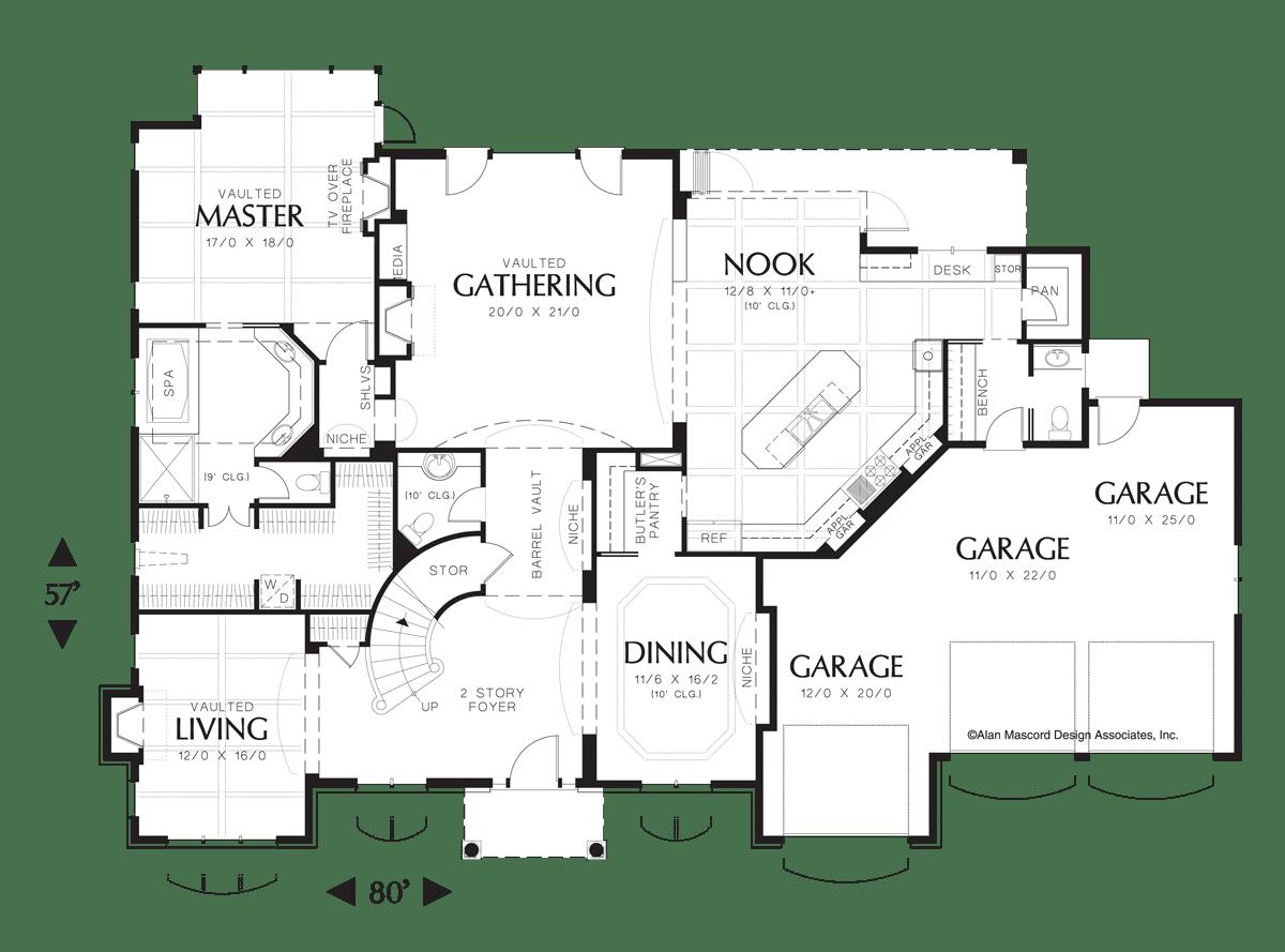 European House Plan 2428 The Marigold: 4064 Sqft, 4 Beds