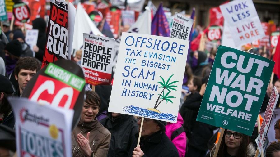 Protestation des Panama Papers de Londres
