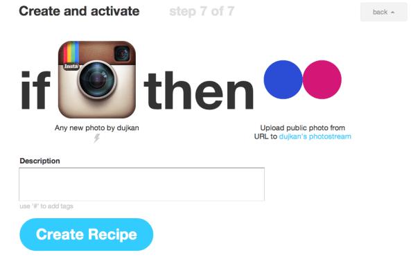 IFTT (Instagram to Flickr)