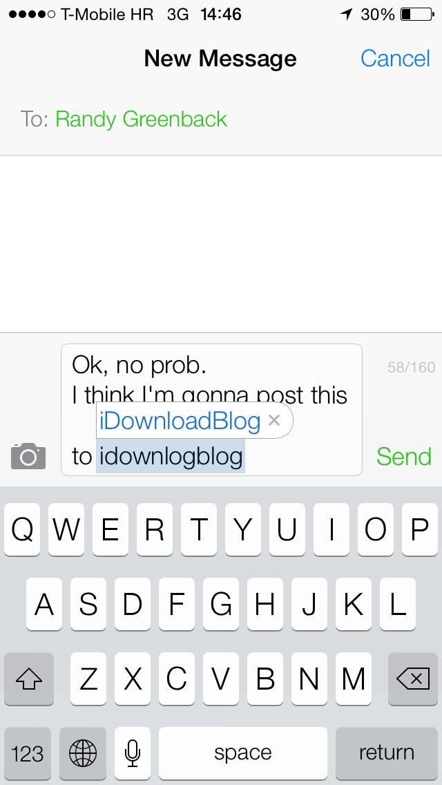iOS 7 (Keyboard, Shortcuts 002)